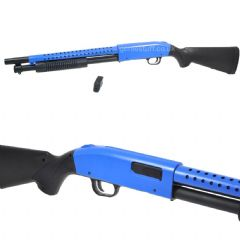 AGM Pump Action MP003 M500 Airsoft Long Shotgun Two-tone